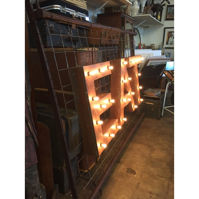 1940s Vintage Up-Cycled Ambient 'Eat' Sign - Image 4 of 10