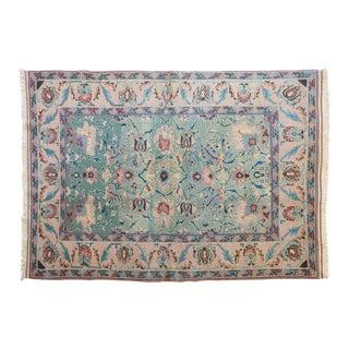 Late 20th Century Vintage Ercan Turkish Melis Wool Rug - 5′7″ × 8′1″