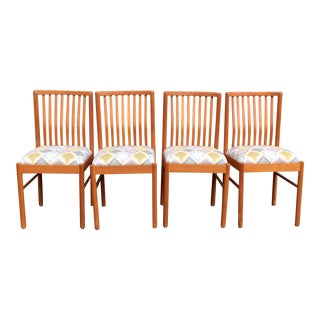 Danish Teak Dining Kitchen Chairs - Set of 4