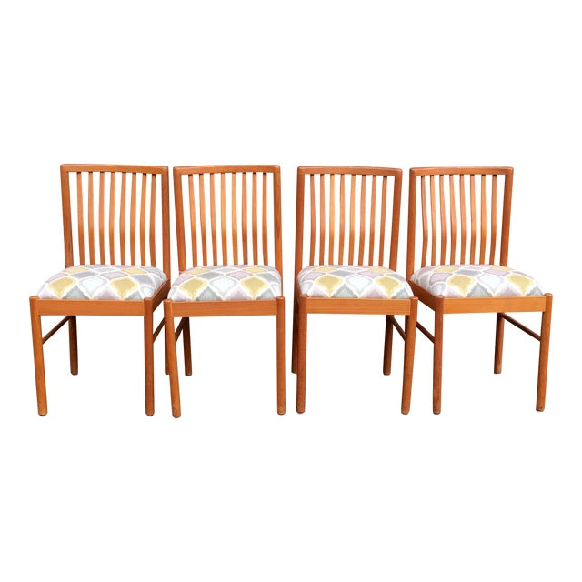 Danish Teak Dining Kitchen Chairs - Set of 4 For Sale