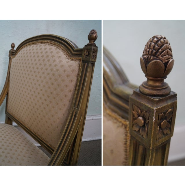 Quality French Louis XV Painted Slipper Chairs - 2 For Sale - Image 9 of 10