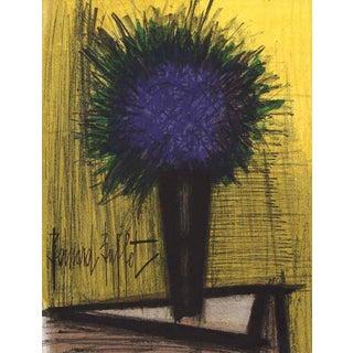 Bernard Buffet Purple Bouquet of Flowers Original Lithograph For Sale