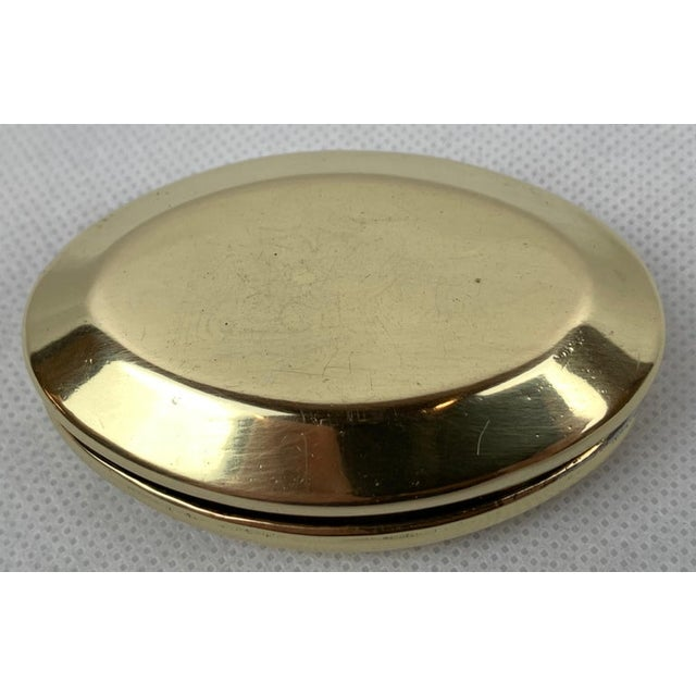 """Mid 19th Century Simple 19th Century Oval Brass Snuff Box """"Sam Smith"""", 1861 For Sale - Image 5 of 8"""