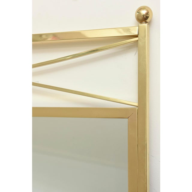 Vintage Brass Billy Haines Style Mirror For Sale In Miami - Image 6 of 11