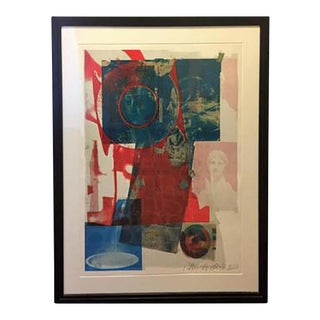 1968 Robert Rauschenberg Pencil Signed Color Lithograph For Sale