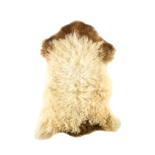 "Contemporary Natural Wool Sheepskin Pelt - 2'2""x3'0"" For Sale"