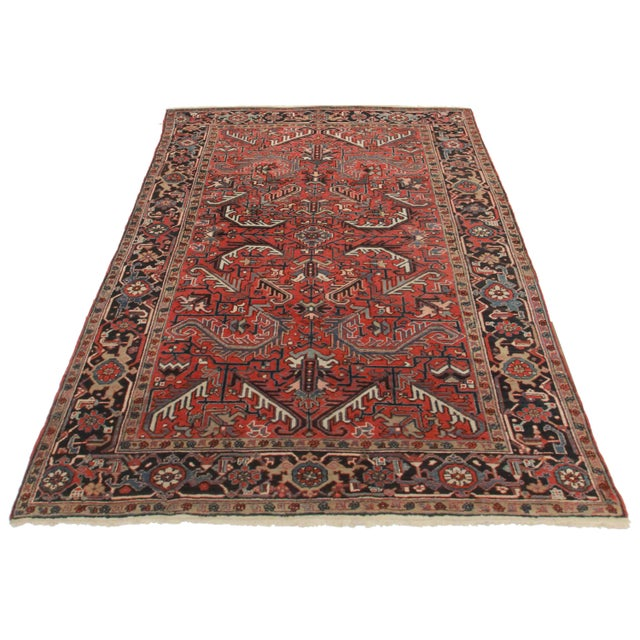 Hand-Knotted Wool Persian Hariz Rug - 7′ × 10′ - Image 2 of 2