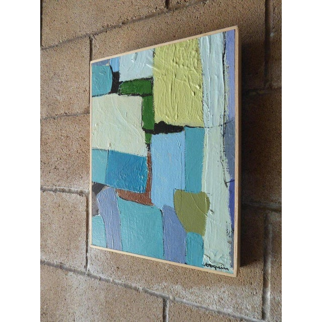 """Contemporary """"Carrés Et Couch De Couleur"""" an Original Contemporary Painting by American Artist Kenneth Joaquin For Sale - Image 3 of 13"""