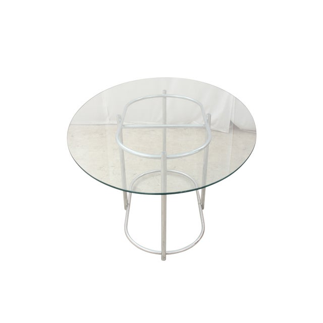 Chrome & Glass Dining Table - Image 6 of 6