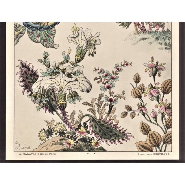 Art Nouveau Rare-c1880s French Botanical Lithograph-fantasy Flowers For Sale - Image 3 of 4
