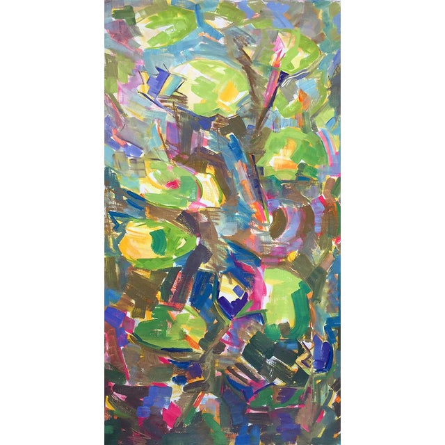 """Waterlilies"" Large Abstract Painting by Trixie Pitts - Image 2 of 6"