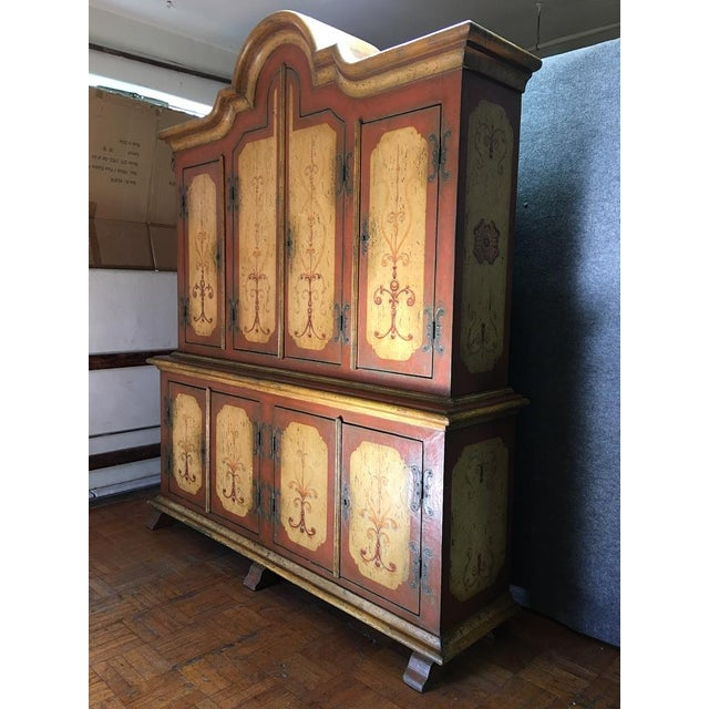 Hand-Painted German Armoire - Image 2 of 8