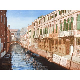 F. St. Clair Miller Venice Italy Etching For Sale