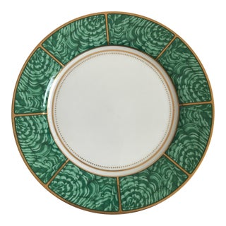 Georges Briard Imperial Malachite Plate For Sale