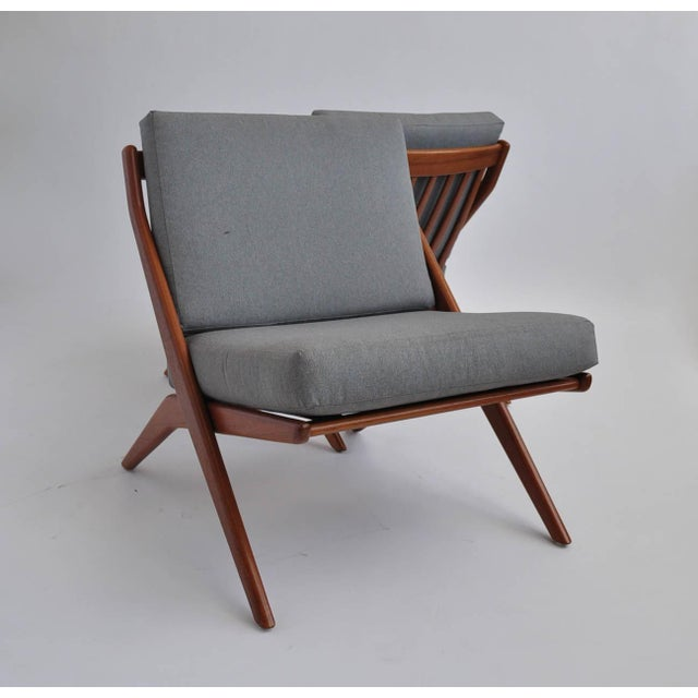 Folk Ohlsson Scandinavian Scissor Lounge Chairs - Image 2 of 10