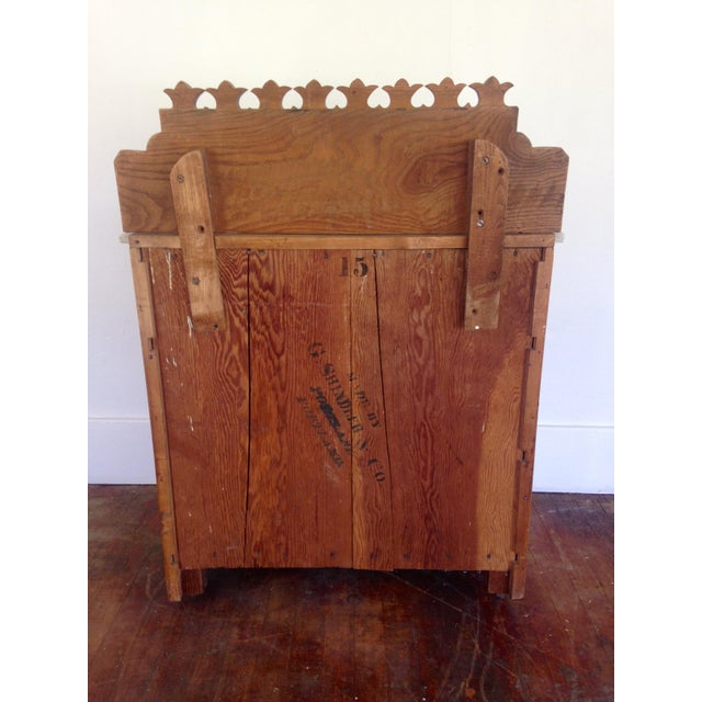 Wood 20th Century Boho chic G. Schindler & Co Marble Top Cabinet For Sale - Image 7 of 9