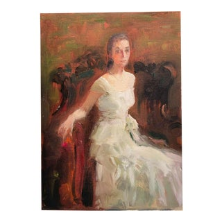 Murat Kaboulov Portrait of a Woman Painting, 1939-2010 For Sale
