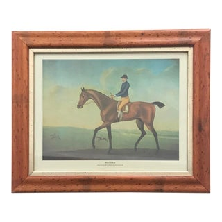 "1960s Framed Equestrian Print by James Seymour - ""Second"" For Sale"
