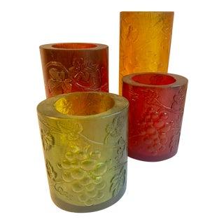 Sascha Brastoff Resin Candle Holders - Set of 4 For Sale