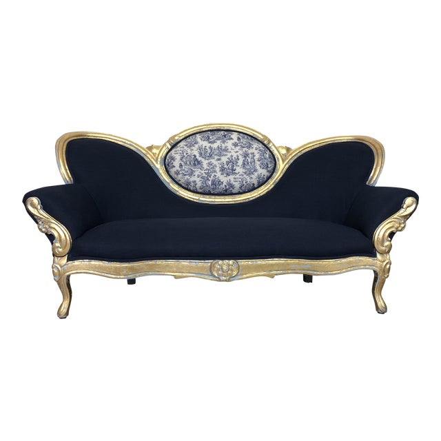 Vintage French Provincial Victorian Sofa For Sale