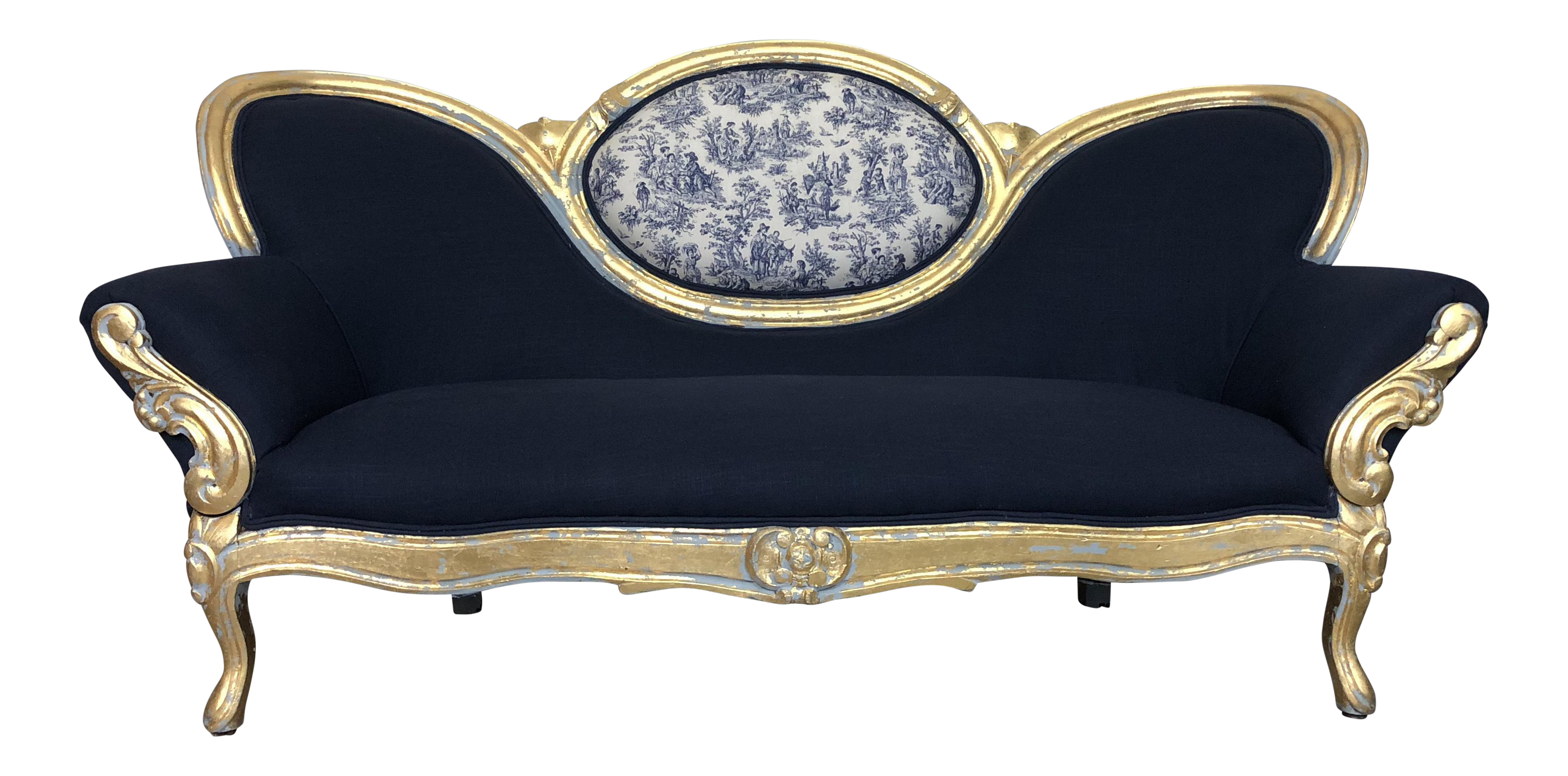 Etonnant Vintage French Provincial Victorian Sofa For Sale
