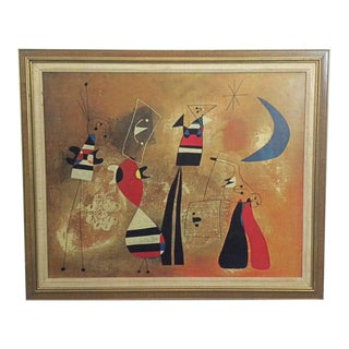 1960s Vintage Framed Joan Miro Poster For Sale