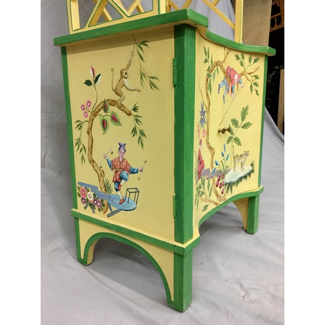 Chinese Style Painted Shelf For Sale - Image 9 of 11