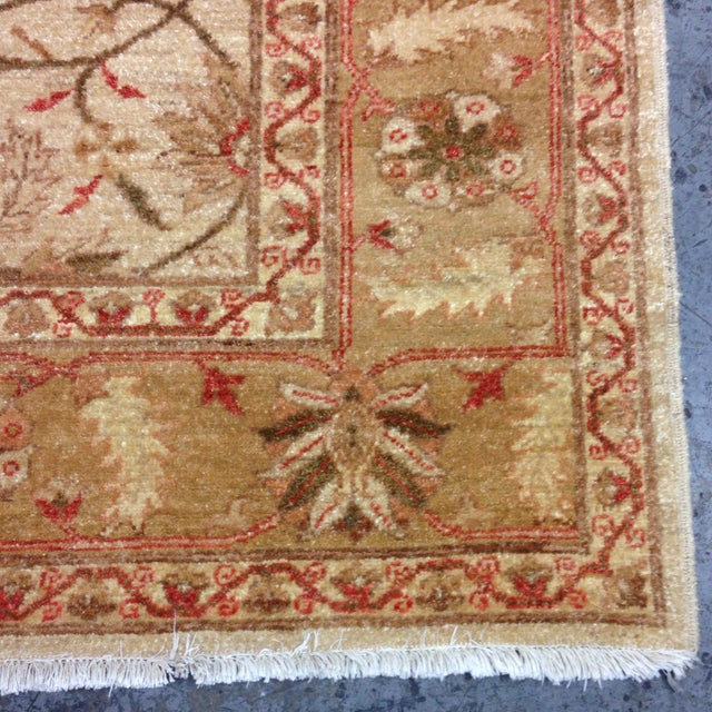 Red & Tan Floral Pattern Area Rug - 8' X 6' - Image 4 of 8