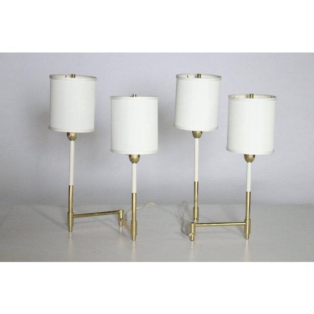 Gold Parzinger Style Table Lamps For Sale - Image 8 of 8