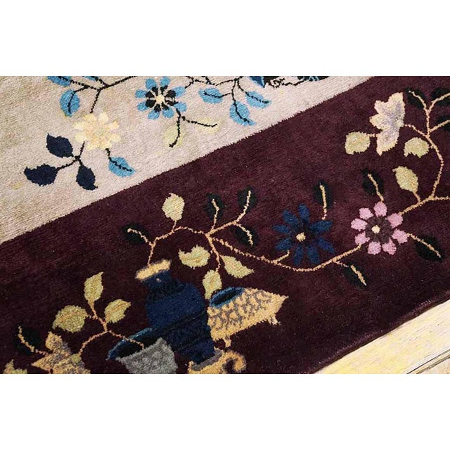 """1920s Antique Art Deco Chinese Rug-8'10"""" X 11'6"""" For Sale - Image 4 of 5"""