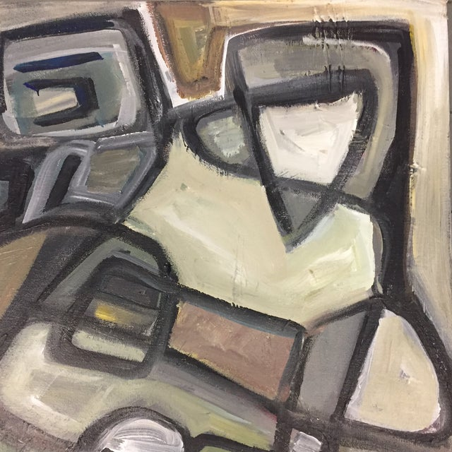 Stewart Ross Original Vintage Abstract Painting For Sale - Image 4 of 6