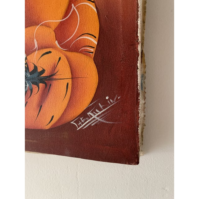 Mid 20th Century Mid 20th Century Figurative Haitian Oil Painting For Sale - Image 5 of 12