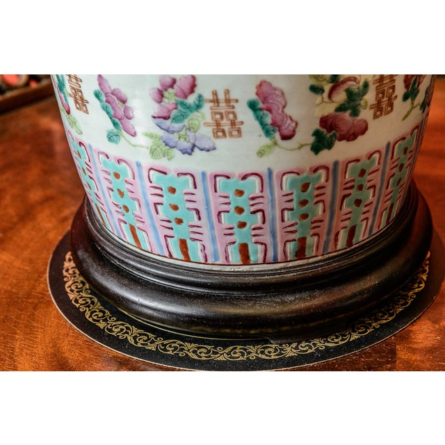 White Large Asian Porcelain Table Lamp For Sale - Image 8 of 9