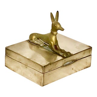 1970s Vintage Brass Sphinx Box For Sale