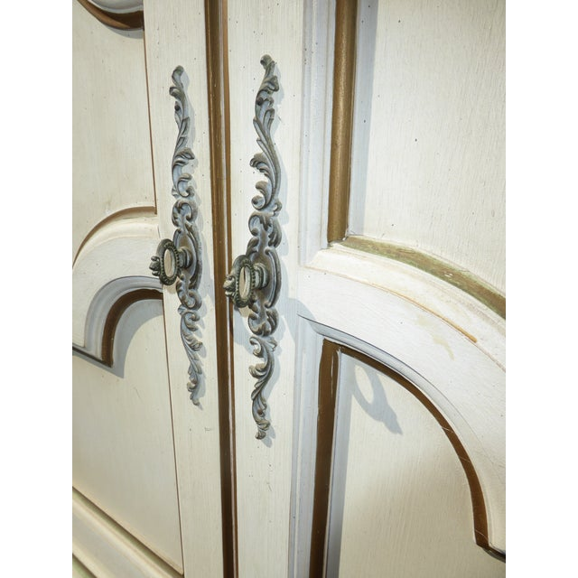 Thomasville French Country White & Gold Server For Sale - Image 9 of 11