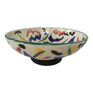 1980's Memphis Style Signed Art Pottery Bowl For Sale