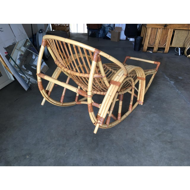 """Restored """"Day Dreaming"""" Rattan Rocking Lounge Chair For Sale - Image 4 of 9"""