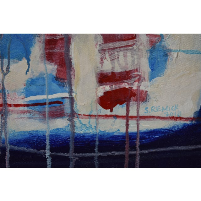 """""""Borderline~Askew"""" Abstract Painting For Sale In Providence - Image 6 of 11"""