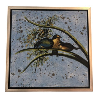 """Songbird"" Framed Oil on Canvas Painting by Wildwood/Chelsea House For Sale"