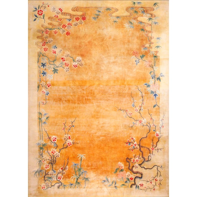 Textile Antique Chinese Art Deco Rug-11′6″ × 16′8″ For Sale - Image 7 of 7