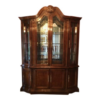 Bernhardt Mahogany Breakfront Cabinet For Sale