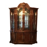Image of Bernhardt Mahogany Breakfront China Cabinet For Sale