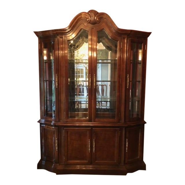 Bernhardt Mahogany Breakfront China Cabinet For Sale