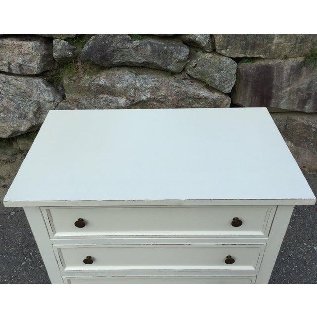 Crate & Barrel White Highboy Dresser For Sale - Image 5 of 10