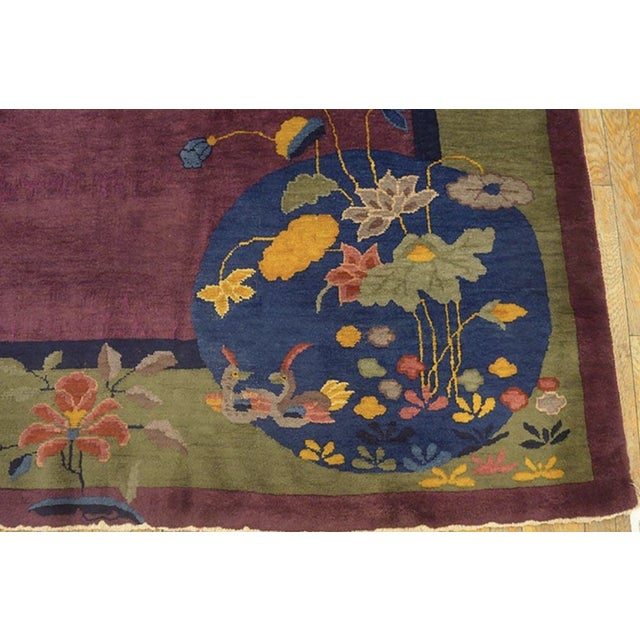 """Antique Chinese Art Deco Rugs 9'2"""" X 11'8"""" For Sale In New York - Image 6 of 11"""