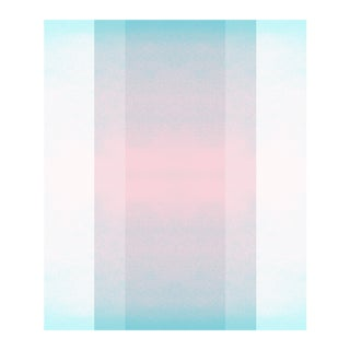 Color Space 64, Blush & Turquoise Skyscape Print For Sale