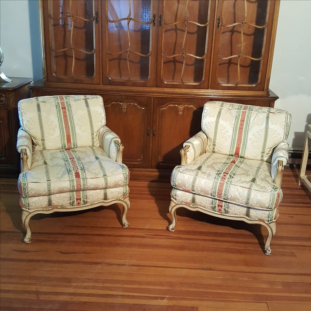 19th Century French Prov. Club Chairs - a Pair - Image 2 of 11