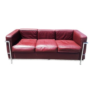 Reproduction Cordovan Lc2 Petite Modele Italian Sofa