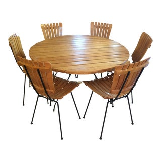 1960s Danish ModernArthur Umanoff Table and 6 Chairs - 7 Piece Set