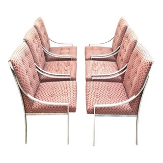 Mid Century Modern Chrome Dining Chairs by Milo Baughman For Sale